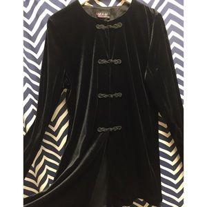 Vintage black velvet jacket.